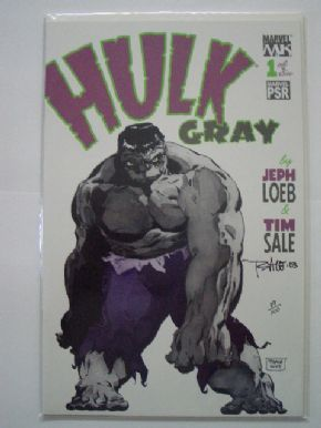 Hulk Gray #1 DF Signed Tim Sale COA Ltd 100